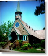 Lake Church Metal Print