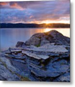 Lake Coeur D'alene Sunset Metal Print