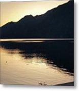 Lake Cresent At Dusk Metal Print