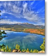 Lake Dillon Blue Metal Print
