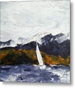 Lake Dillon In Fall Metal Print