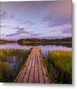Lake Dock Metal Print