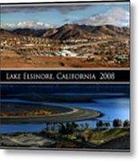 Lake Elsinore  180 Degrees Metal Print