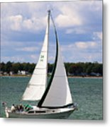 Lake Erie Sailing 8092 Metal Print