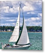 Lake Erie Sailing 8092h Metal Print