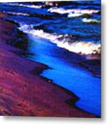 Lake Erie Shore Abstract Metal Print