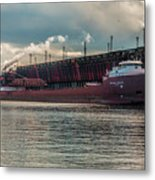Lake Freighter - Honorable James L Oberstar Metal Print
