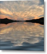Lake Front Sunset Metal Print