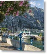 Lake Garda Harbour Of Limone Sul Garda Metal Print