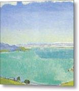 Lake Geneva From The Caux Metal Print