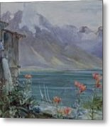 Lake Geneva Metal Print by John William Inchbold