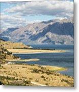 Lake Hawea In New Zealand Metal Print