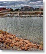 Lake Hefner Dock Metal Print