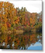 Lake Helene And Fall Foliage Metal Print