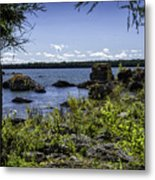 Lake Huron Cedarville Michigan Metal Print