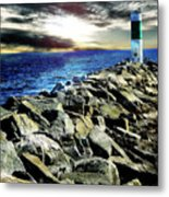 Lake Huron Lighthouse Metal Print