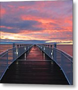 Lake Huron Pier Metal Print