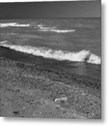 Lake Huron Windy Day 4 Bw Metal Print