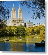 Lake In Central Park Metal Print