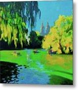 Lake In Central Park Ny Metal Print