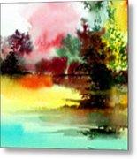 Lake In Colours Metal Print