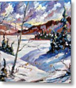 Lake In Winter Metal Print