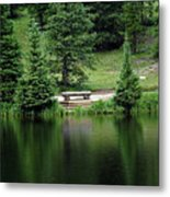 Lake Irene Dressed In Green Metal Print