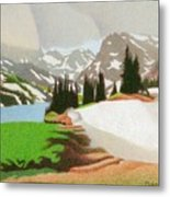 Lake Isabelle Storm Metal Print