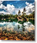 Lake Island View Metal Print