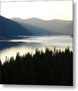 Lake Koocanusa  Evening Sun Metal Print