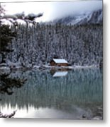 Lake Louise Boathouse Metal Print