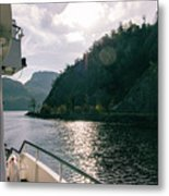 Lake Lucerne From A Boat  Metal Print