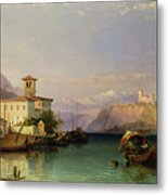 Lake Maggiore Metal Print by George Edwards Hering