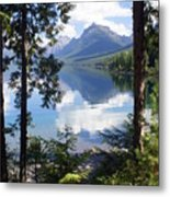 Lake Mcdlonald Through The Trees Glacier National Park Metal Print
