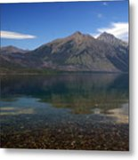 Lake Mcdonald Reflection Glacier National Park 2 Metal Print