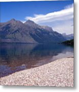 Lake Mcdonald Reflection Glacier National Park 4 Metal Print