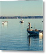 Lake Mendota Fishing Metal Print