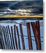 Lake Mi Sunset 15 Metal Print