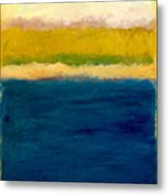 Lake Michigan Beach Abstracted Metal Print by Michelle Calkins