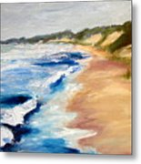Lake Michigan Beach With Whitecaps Detail Metal Print