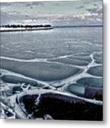 Lake Michigan Frozen Metal Print