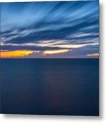 Lake Michigan Long Exposure  Metal Print