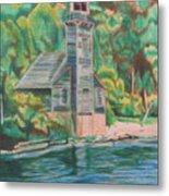Lake Michigan Old Lighthouse Metal Print