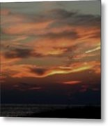Lake Michigan Sunset Photograph Metal Print