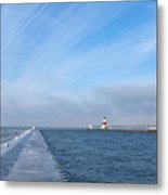 Lake Michigan Winter Metal Print