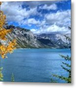 Lake Minnewanka Banff National Park Alberta Canada Metal Print