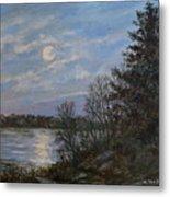 Lake Moonrise Metal Print