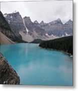 Lake Moraine Metal Print