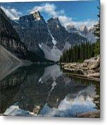 Lake Moraine Reflection Metal Print