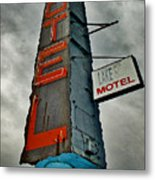 Lake Motel Metal Print